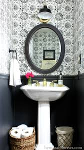 powder rooms with wallpaper black and white tile wallpaper powder room hymns and verses