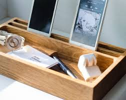 decorative charging station docking station dock259 handmade oak engraved charging