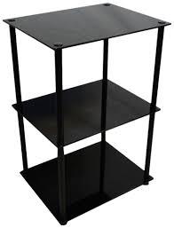 black glass lamp table amazon com convenience concepts designs2go midnight classic 3