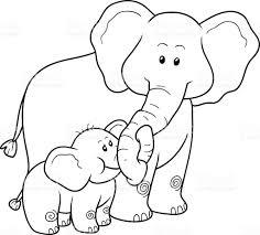 coloring book children elephants stock vector art 498995982
