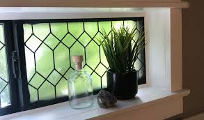 faux stained glass kitchen cabinets diy faux leaded glass window cottage living