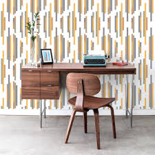 20 Best Removable Wallpapers Peel by Bars Modern Classic Orange Grey Blue Removable Wallpaper Kathy