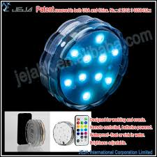 Led Lights In Vases The Aqua Mood Light Home Party Decoration Glass Crystal Vases