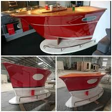 Red Kitchen Countertop - elegant artificial stone kitchen countertop home boat bar counter