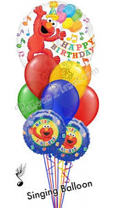 balloon delivery for birthday elmo birthday iv singing balloon bouquet 9 balloons balloon