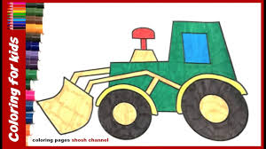 free coloring pages how to colour tractor drawing pages for kids