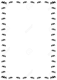 halloween bats background halloween border with black bats on white background stock photo