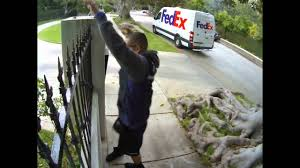 Front Door Video Monitor by Fedex Guy Throwing My Computer Monitor Youtube