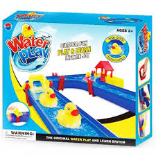 childrens kids toy aqua play set floating canal water track indoor