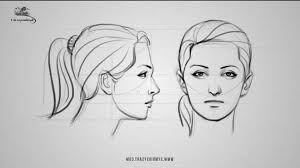 girls side view in pencil drawing how to draw the female face side