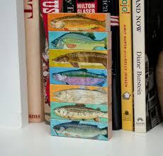 Beach Decor Shop Fish Art Fish Sticks Freshwater Fish Art Block Set Of 7