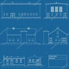 architectural background vector house blue print u2014 stock vector