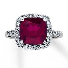 kay jewelers rings lab created ruby ring lab created sapphires 10k white gold ring