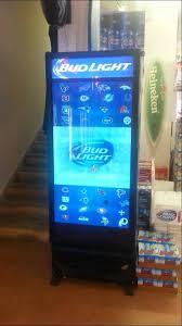 bud light for sale bud light beer cooler with video screen door youtube