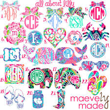 monogram letter stickers all about lilly monogram personalized design lilly pulitzer