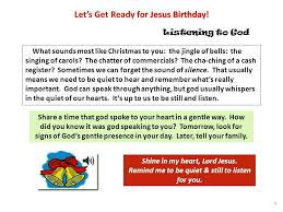 let s get ready for jesus birthday advent is the four weeks