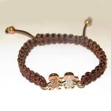 rose bracelet charm images Pave diamond boy girl charm friendship bracelet 18k rose gold jpg