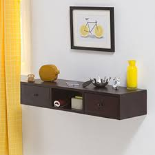 Wall Shelves  Kitchen Racks Online Wooden  Wall Mounted Designs - Wall hanging shelves design