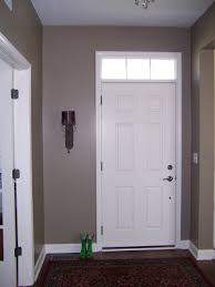 example of taupe paint in front entry decorating style