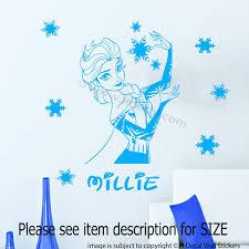 disney frozen princess elsa wall stickers jr decal wall stickers disney frozen princess elsa wall stickers in blue