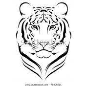 tiger temporary usimprints tiger henna