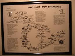 The Great Lakes Map Great Lakes Shipwreck Treasure Maps Charts