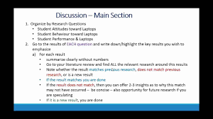 how write a research paper discussion section in research paper youtube
