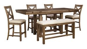 Dining Room Extension Table by Signature Design By Ashley Moriville Gray 6 Piece Rectangle Dining