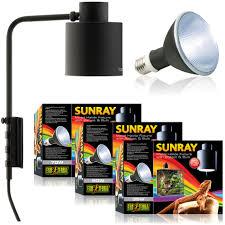 exo terra sunray light fixtures include an easy to mount ballast