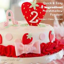 quick u0026 easy 2 ingredient marshmallow fondant recipe angel foods