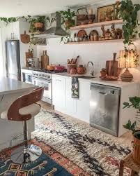 top of kitchen cabinet greenery 24 trendy boho kitchen decor ideas shelterness