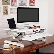using a sit stand desk pricedepot flexispot m2b m2w height adjustable sit stand desktop