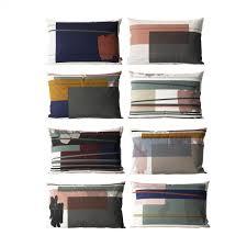 panier ferm living colour block coussin 60x40cm ferm living ambientedirect com