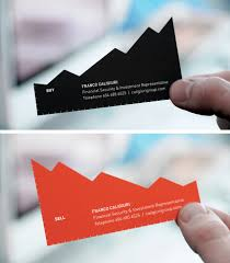 cool business card stock chart business card