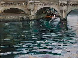 daily paintings le pont neuf light rain postcard from provence
