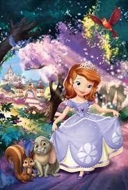 disney sofia princess 22x34 poster cartoon art print
