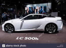 lexus new 2016 new lexus lc500h hybrid coupe at paris motor show 2016 stock photo