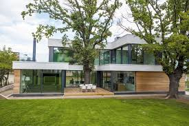modern house integrating trees in its modern architecture two