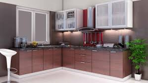 Black And Brown Kitchen Cabinets Astounding Design Ideas Of Modular Kitchen With L Shape Kitchen