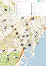 Spain Maps by Free Printable Map Of Barcelona Attractions Free Tourist Maps