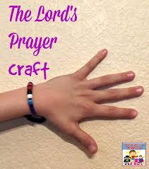 bracelet craft hand images Lord 39 s prayer craft jpg