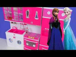 toy kitchen set frozen elsa cooking playset for kids disney