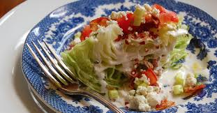 the wedge salad homemade healthy blue cheese dressing