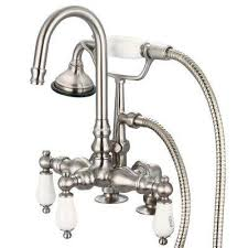 Shower Hose For Bathtub Faucet Tub With Hand Shower Diverter Bathroom Faucets Bath The Home