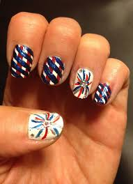 4th of july nail design nail art firework nail art design red
