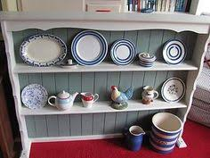 Shabby Chic Plate Rack by Shabby Chic Painted Vintage Pine Plate Rack With Blue U0026 White