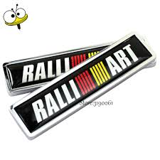mitsubishi emblem car styling auto car sticker emblem badge decal for ralliart for