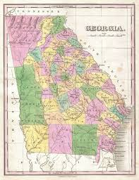 Map Of Ga File 1827 Finley Map Of Georgia Geographicus Georgia Finley