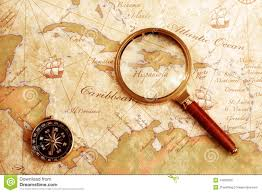Blank Treasure Map by Old Brass Compass On A Treasure Map Stock Photos Image 14950393