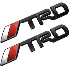 toyota car logo amazon com deselen lp bs10 toyota trd car emblem chrome